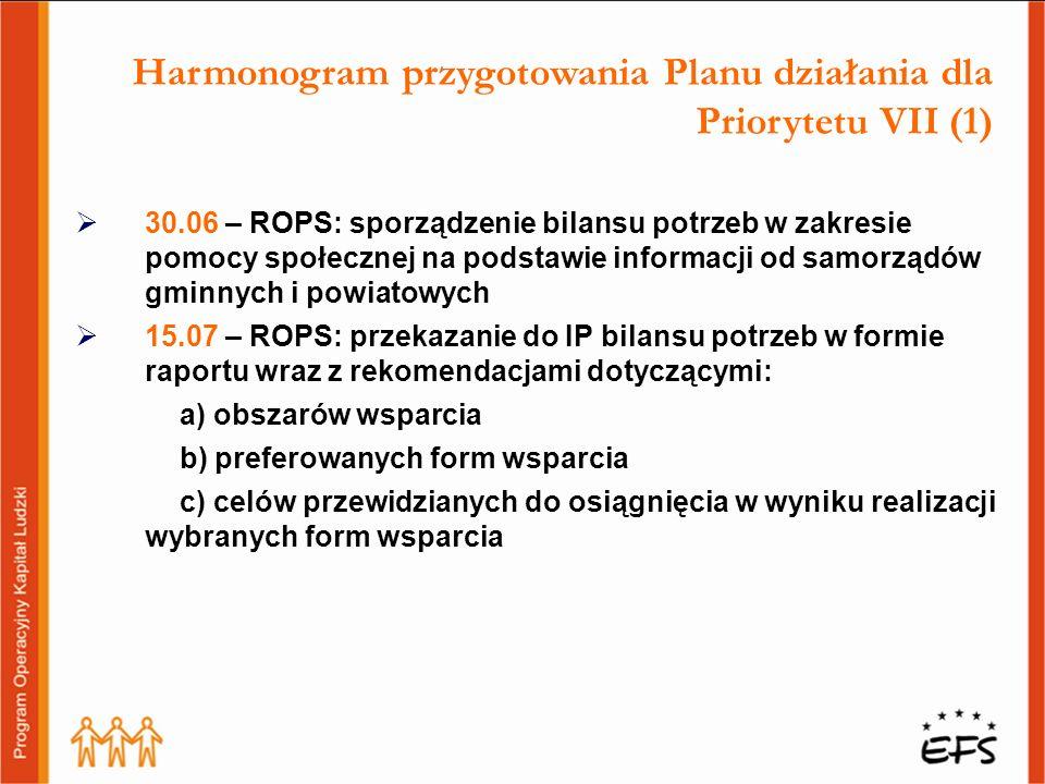 Harmonogram przygotowania Planu działania dla Priorytetu VII (1)