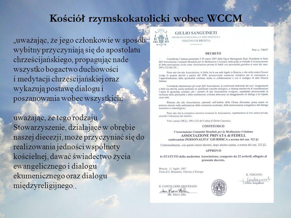 Kościół rzymskokatolicki wobec WCCM