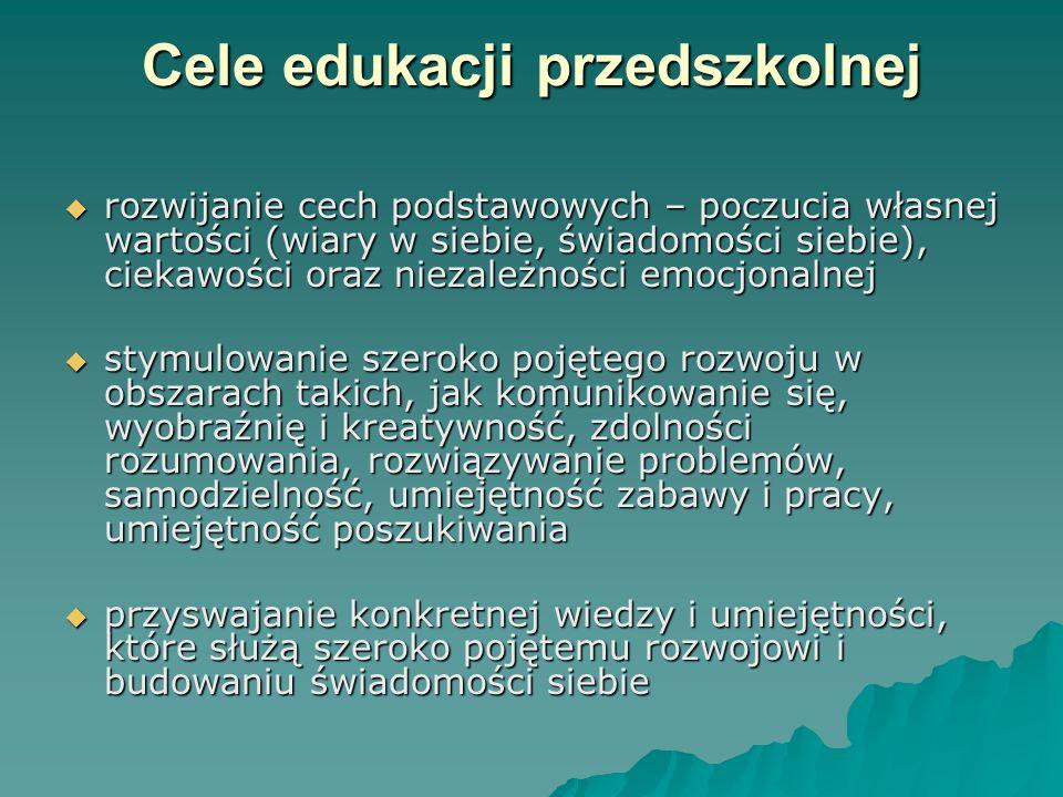 Cele edukacji przedszkolnej