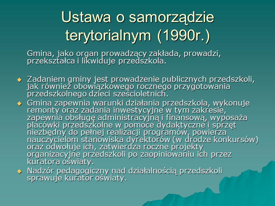 Ustawa o samorządzie terytorialnym (1990r.)