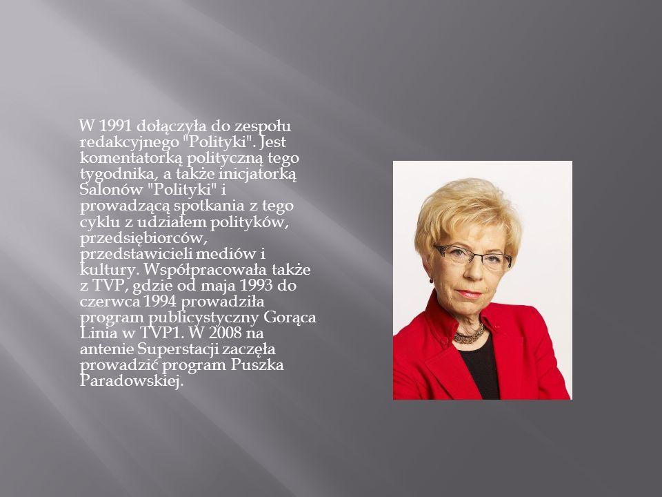W 1991 dołączyła do zespołu redakcyjnego Polityki