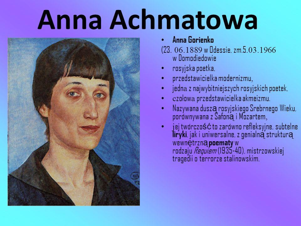 Anna Achmatowa Anna Gorienko