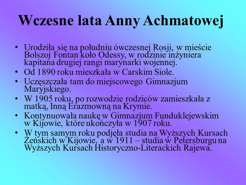 Wczesne lata Anny Achmatowej