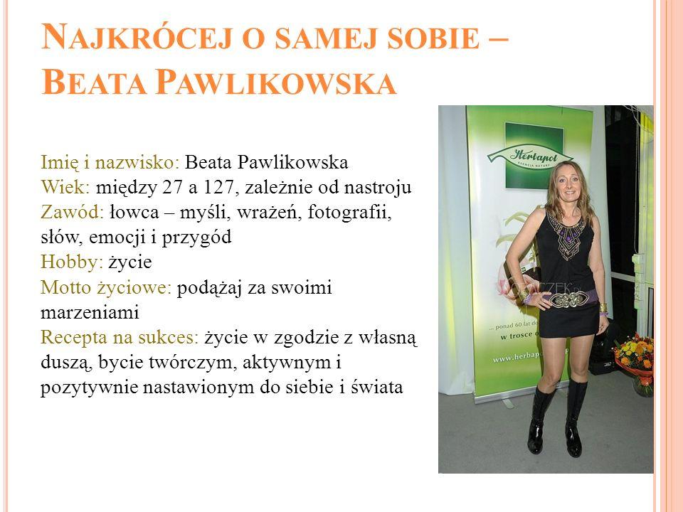 Najkrócej o samej sobie – Beata Pawlikowska