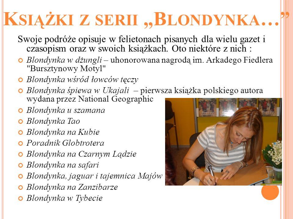 """Książki z serii """"Blondynka…"""