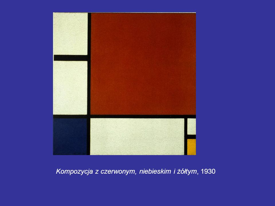Kompozycja z czerwonym, niebieskim i żółtym, 1930