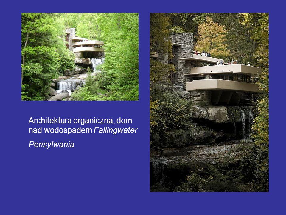 Architektura organiczna, dom nad wodospadem Fallingwater
