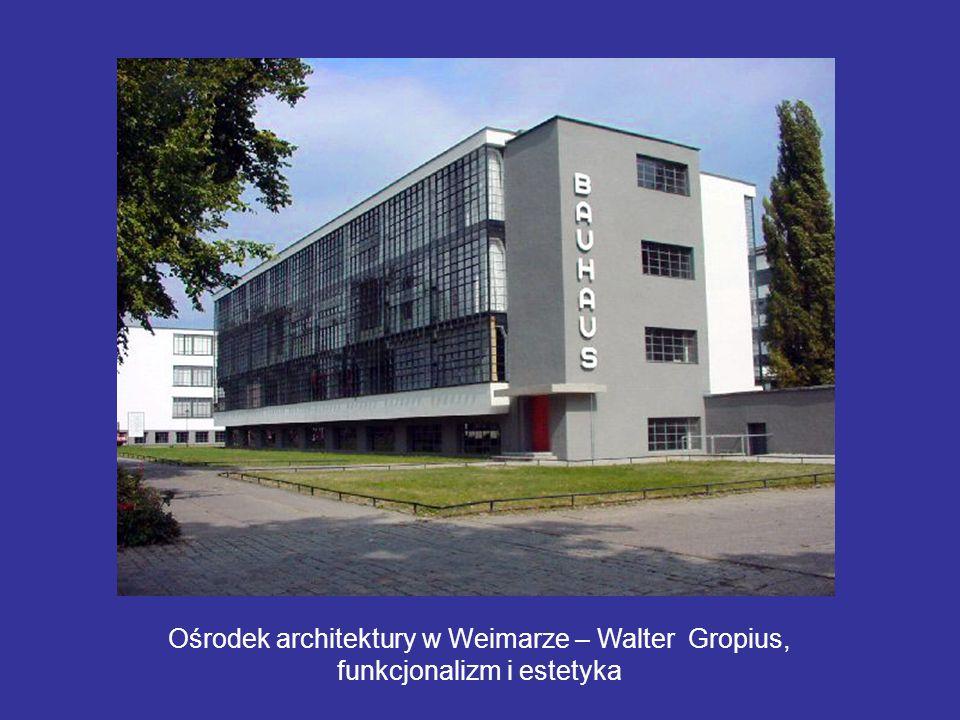 Ośrodek architektury w Weimarze – Walter Gropius, funkcjonalizm i estetyka
