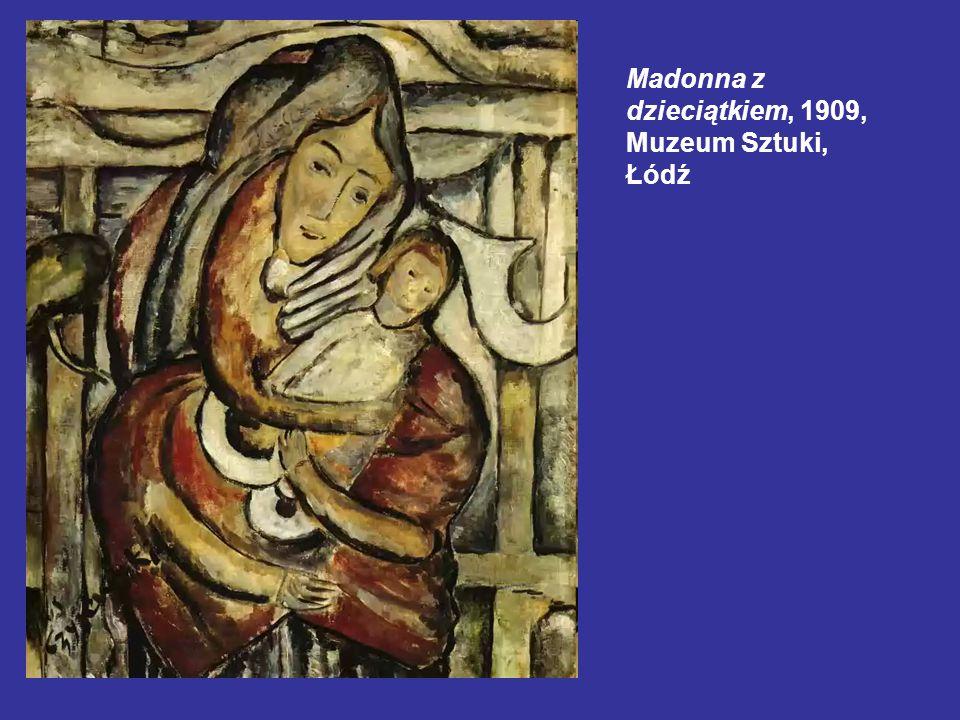 Madonna z dzieciątkiem, 1909, Muzeum Sztuki, Łódź