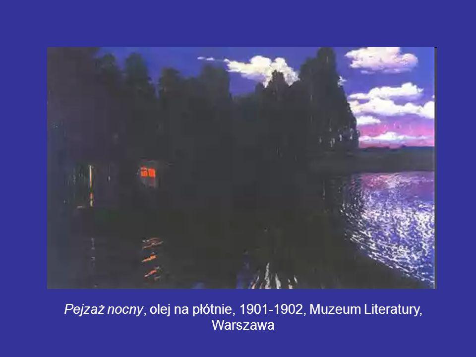 Pejzaż nocny, olej na płótnie, 1901-1902, Muzeum Literatury, Warszawa