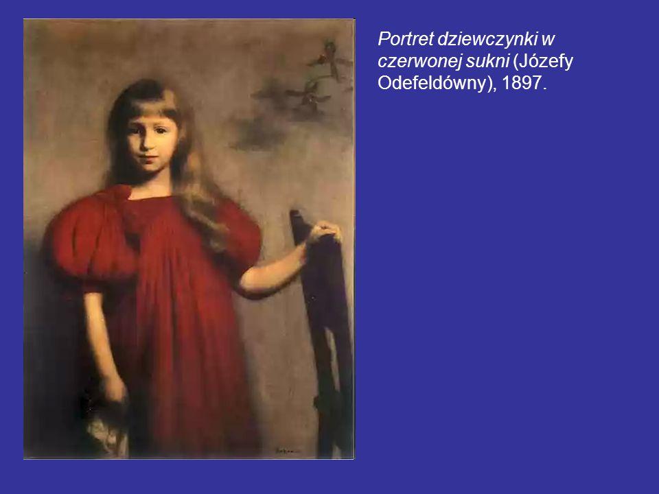 Portret dziewczynki w czerwonej sukni (Józefy Odefeldówny), 1897.