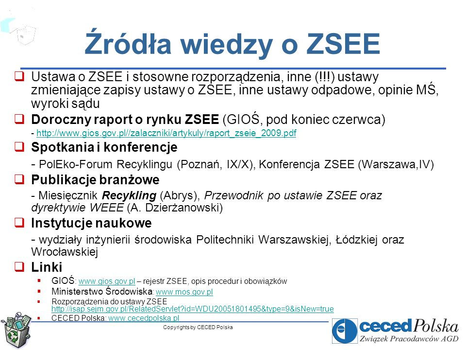 Copyrights by CECED Polska