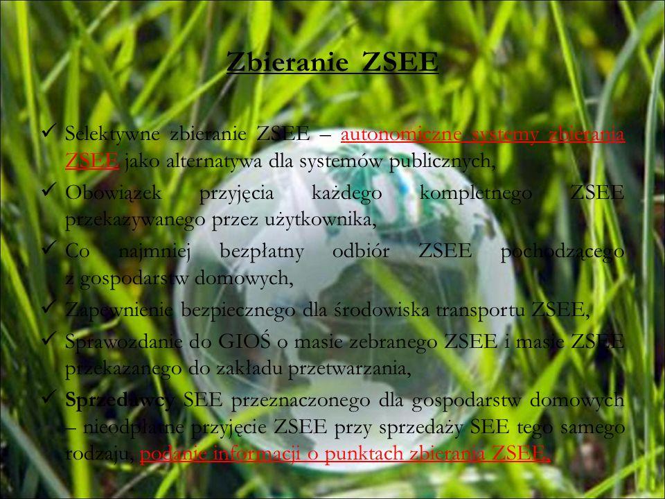 Zbieranie ZSEESelektywne zbieranie ZSEE – autonomiczne systemy zbierania ZSEE jako alternatywa dla systemów publicznych,
