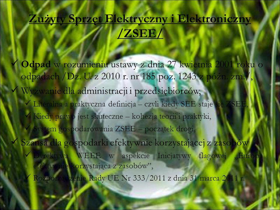 Zużyty Sprzęt Elektryczny i Elektroniczny /ZSEE/