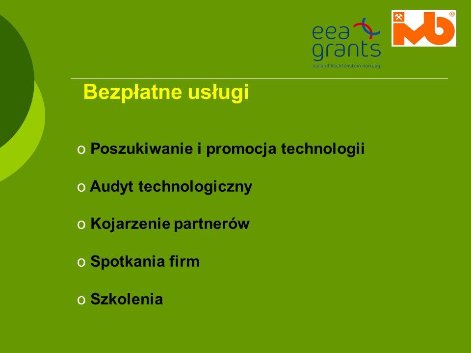 Bezpłatne usługi Poszukiwanie i promocja technologii