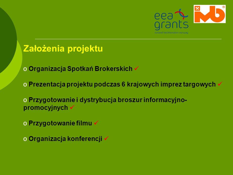 Założenia projektu Organizacja Spotkań Brokerskich 