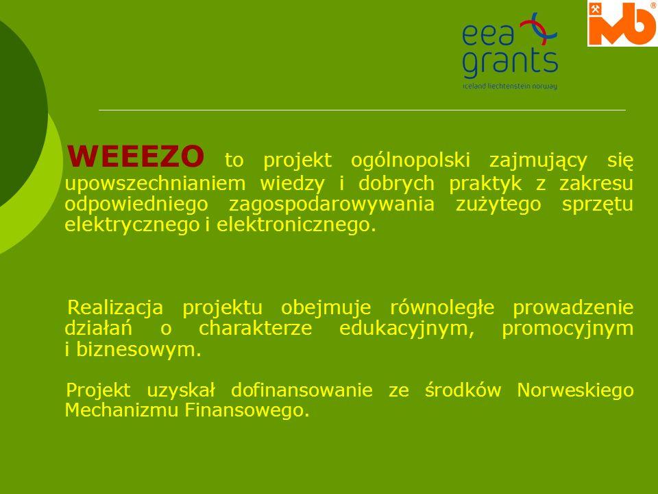 WEEEZO to projekt ogólnopolski zajmujący się upowszechnianiem wiedzy i dobrych praktyk z zakresu odpowiedniego zagospodarowywania zużytego sprzętu elektrycznego i elektronicznego.