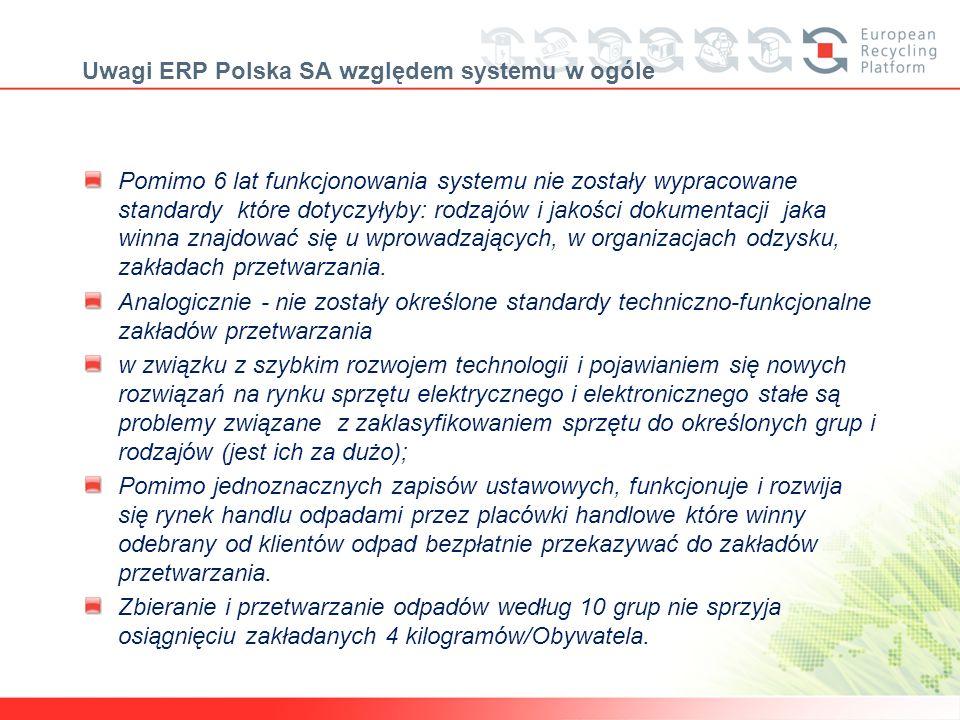 Uwagi ERP Polska SA względem systemu w ogóle