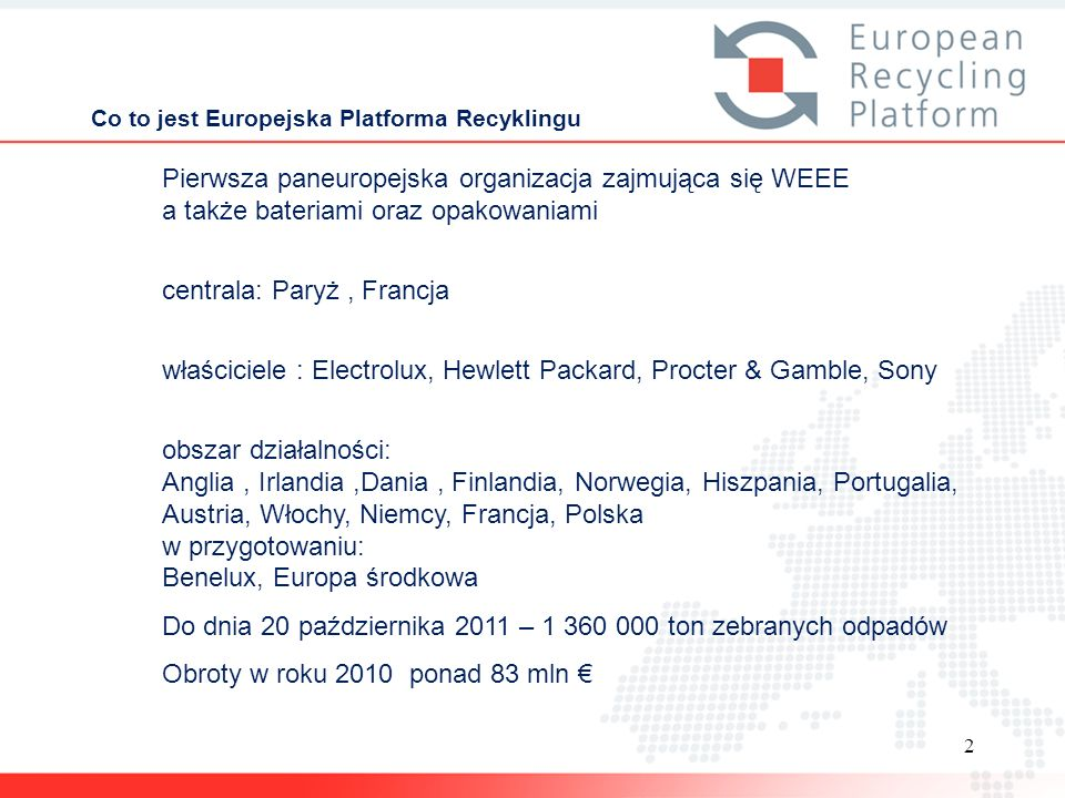 Co to jest Europejska Platforma Recyklingu