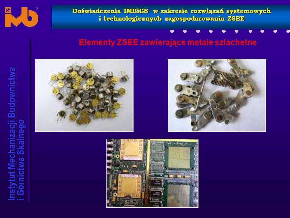 Elementy ZSEE zawierające metale szlachetne
