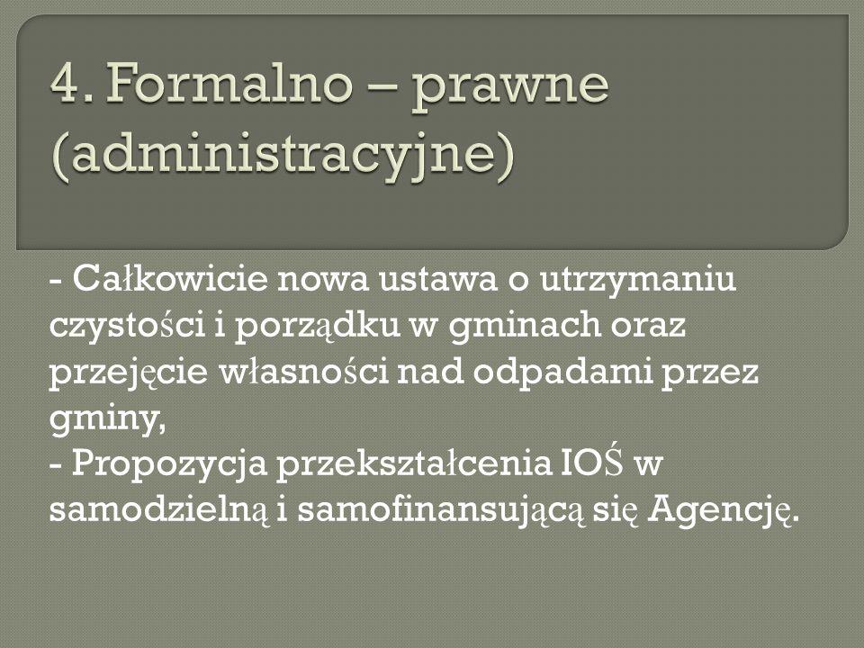 4. Formalno – prawne (administracyjne)