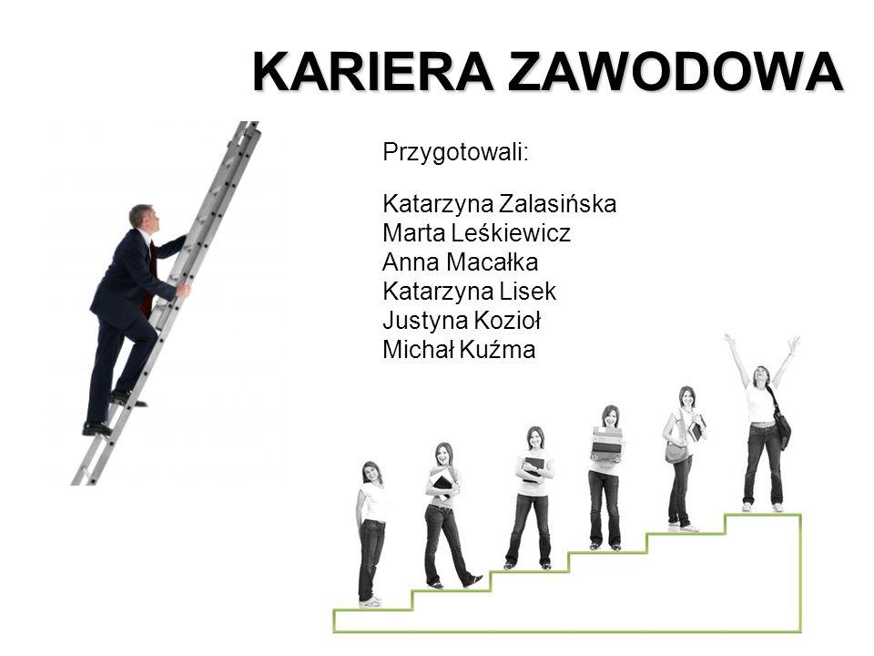 KARIERA ZAWODOWA Przygotowali: Katarzyna Zalasińska Marta Leśkiewicz