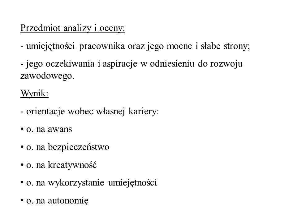 Przedmiot analizy i oceny: