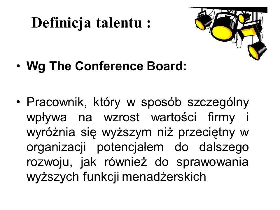 Definicja talentu : Wg The Conference Board: