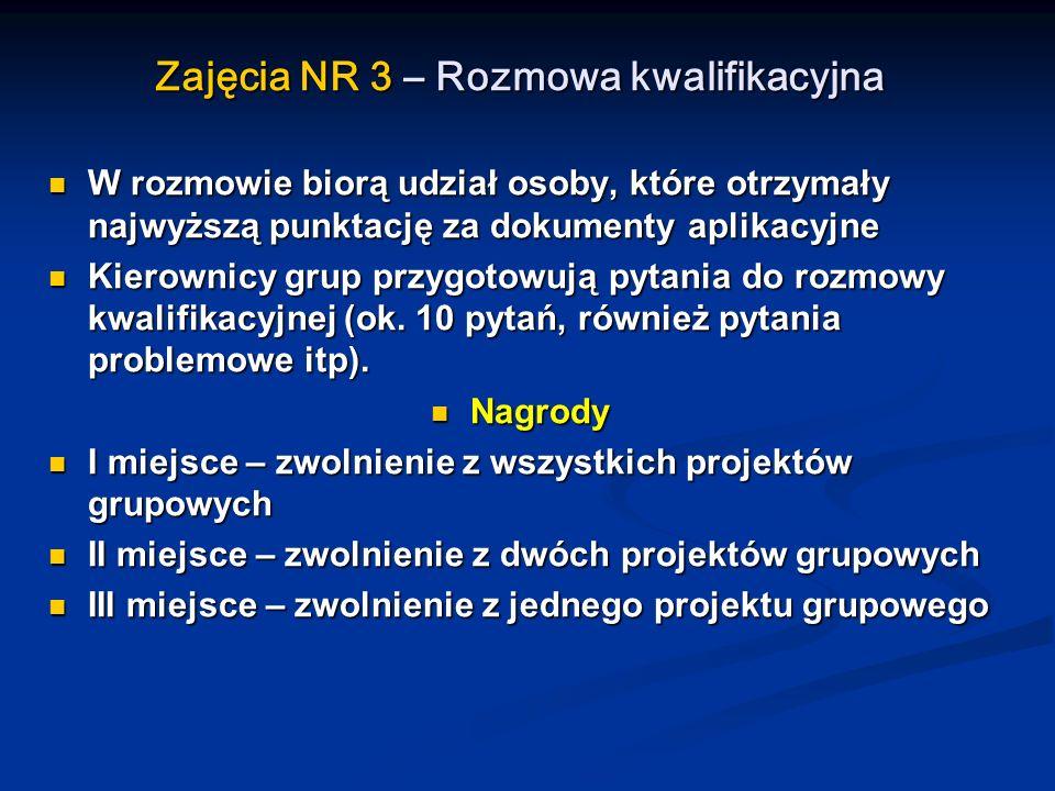 Zajęcia NR 3 – Rozmowa kwalifikacyjna