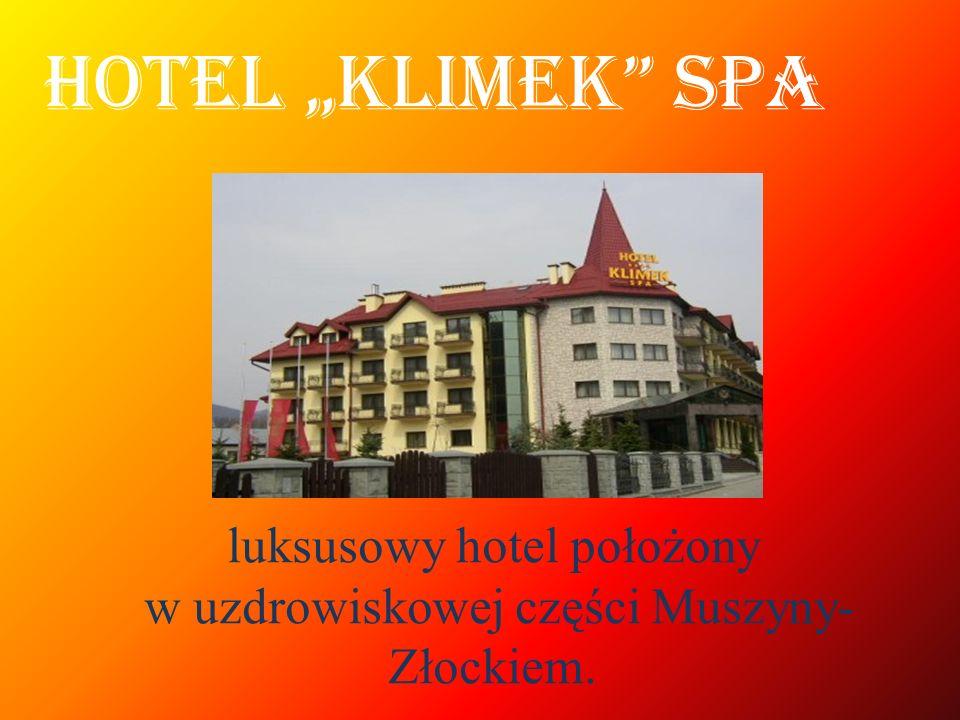luksusowy hotel położony w uzdrowiskowej części Muszyny-Złockiem.