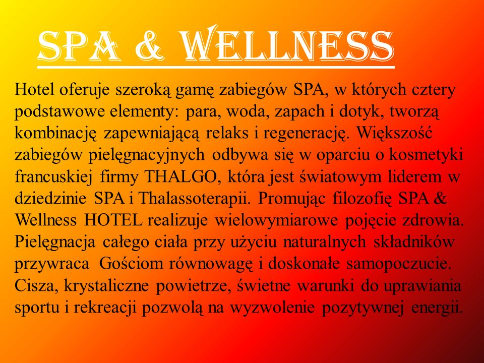 SPA & WELLNESS