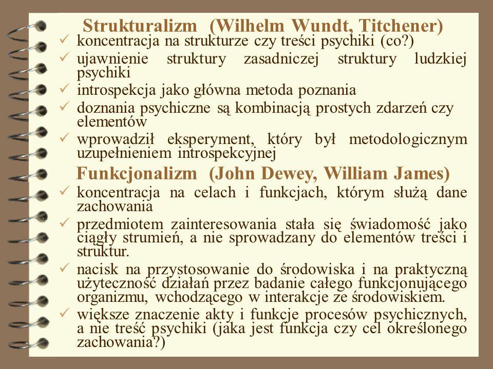 Strukturalizm (Wilhelm Wundt, Titchener)