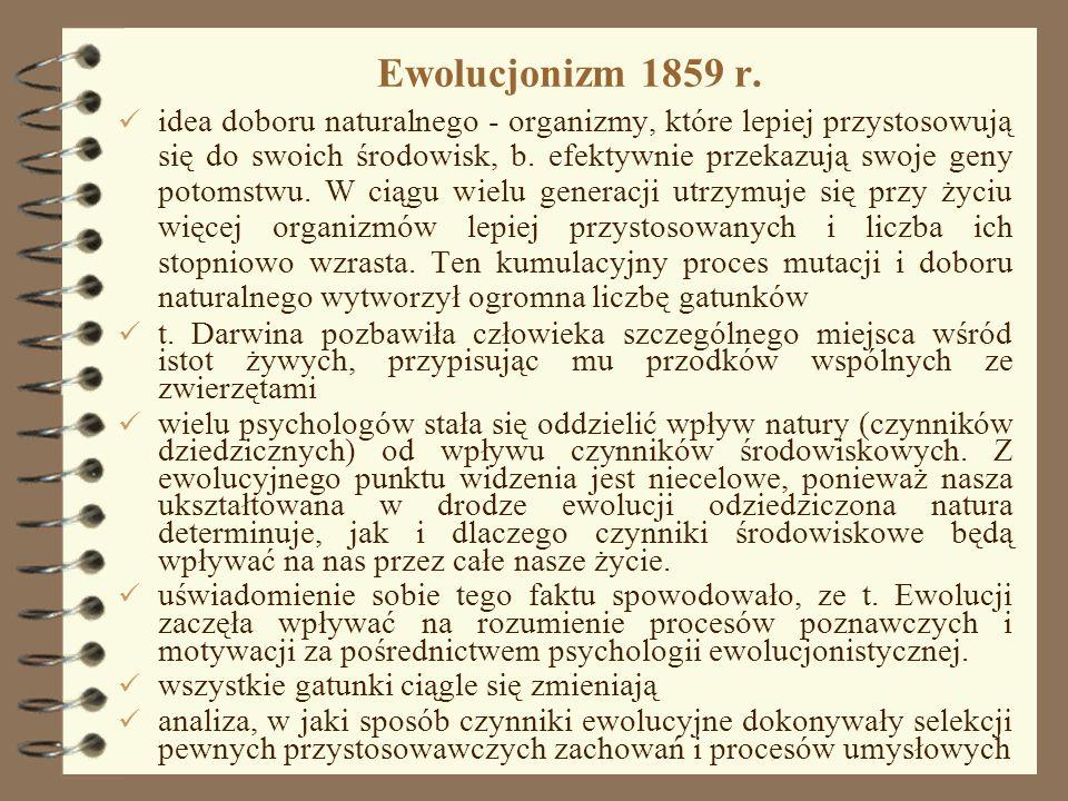 Ewolucjonizm 1859 r.