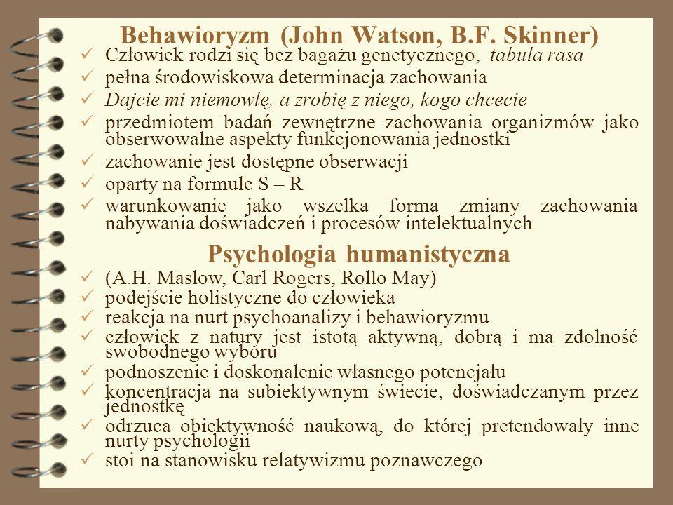 Behawioryzm (John Watson, B.F. Skinner)