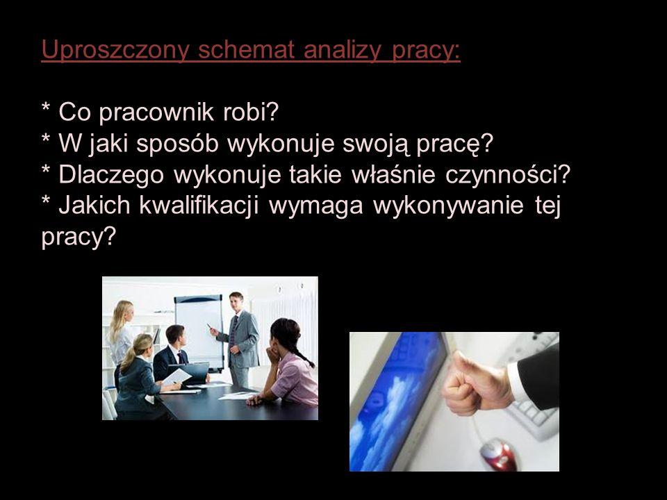 Uproszczony schemat analizy pracy: