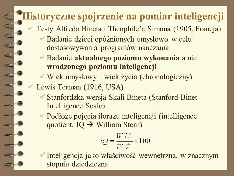 Historyczne spojrzenie na pomiar inteligencji