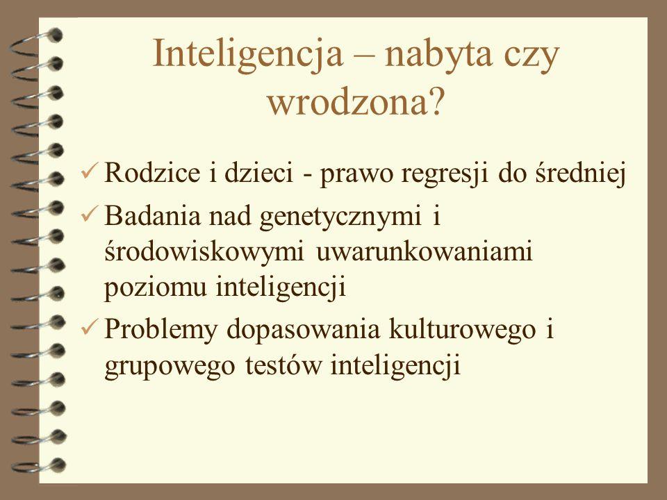 Inteligencja – nabyta czy wrodzona