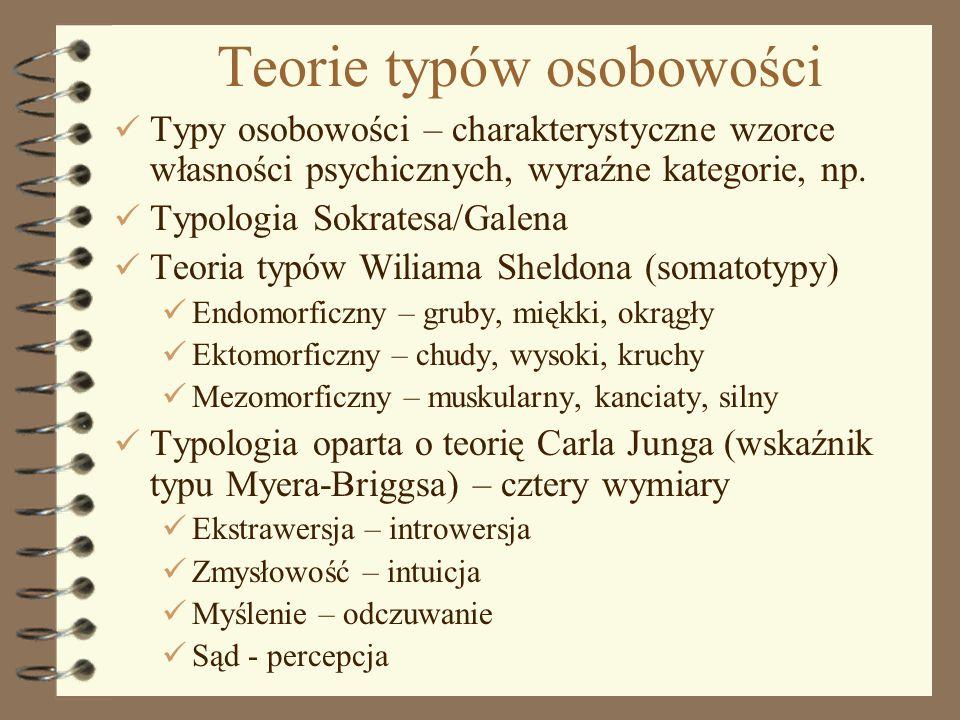 Teorie typów osobowości