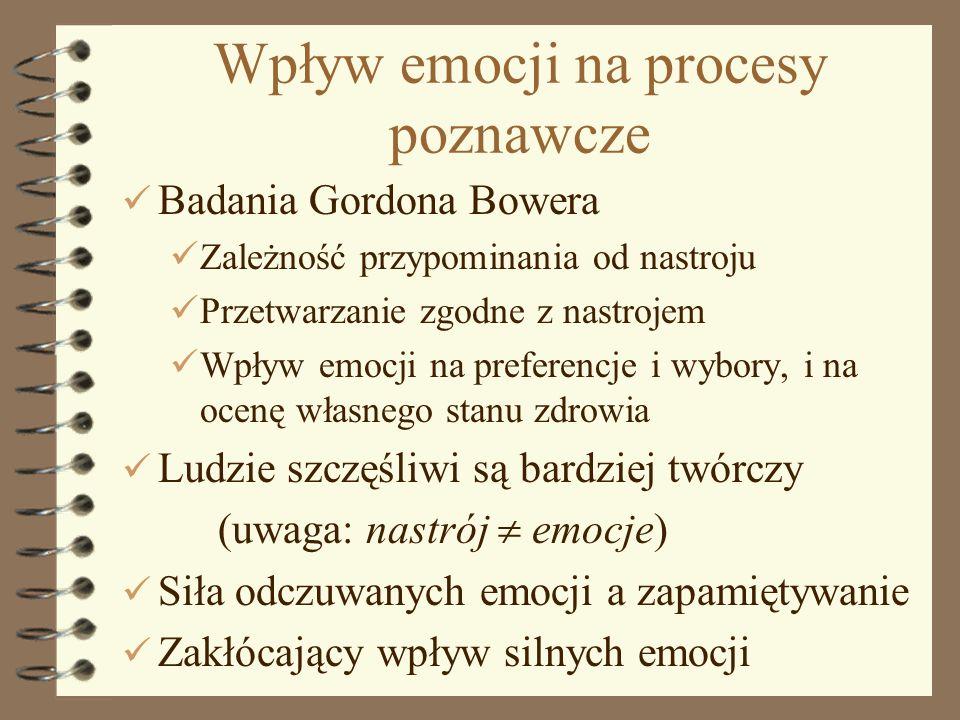 Wpływ emocji na procesy poznawcze