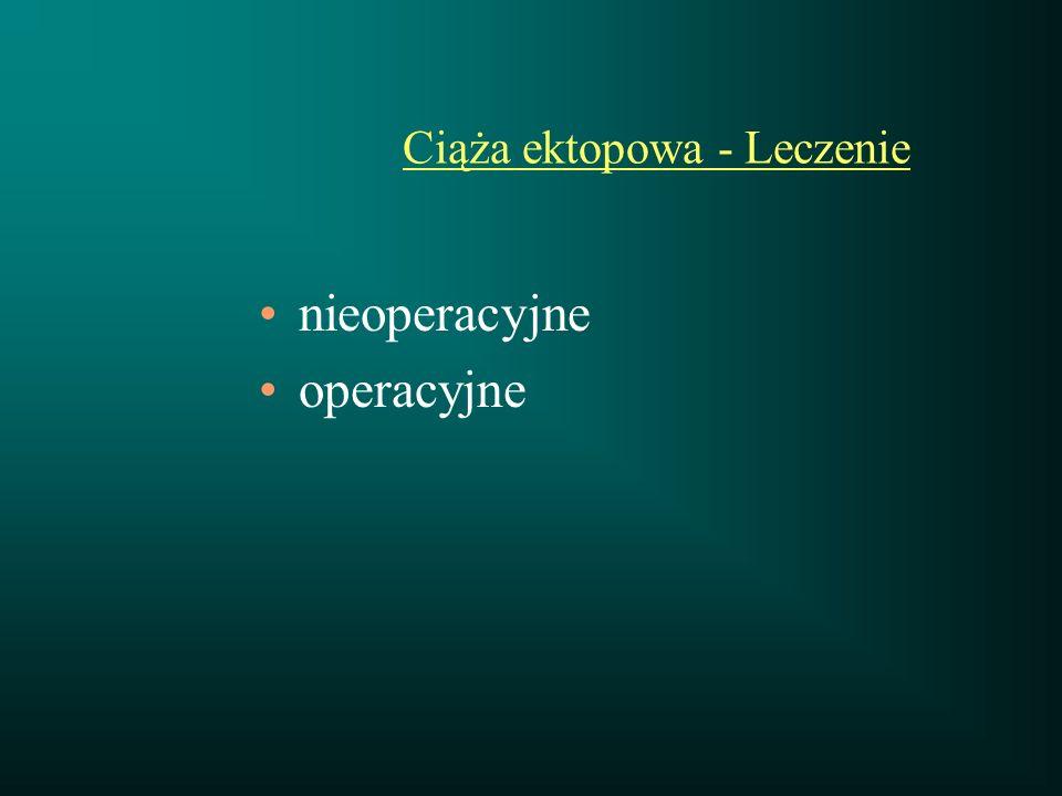 Ciąża ektopowa - Leczenie