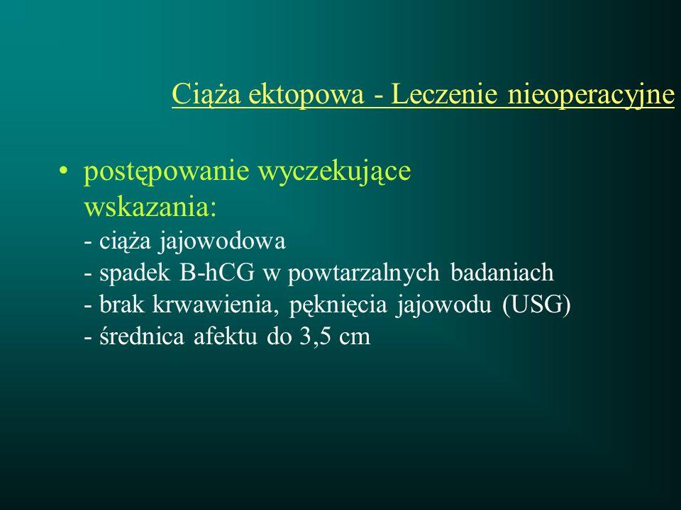 Ciąża ektopowa - Leczenie nieoperacyjne