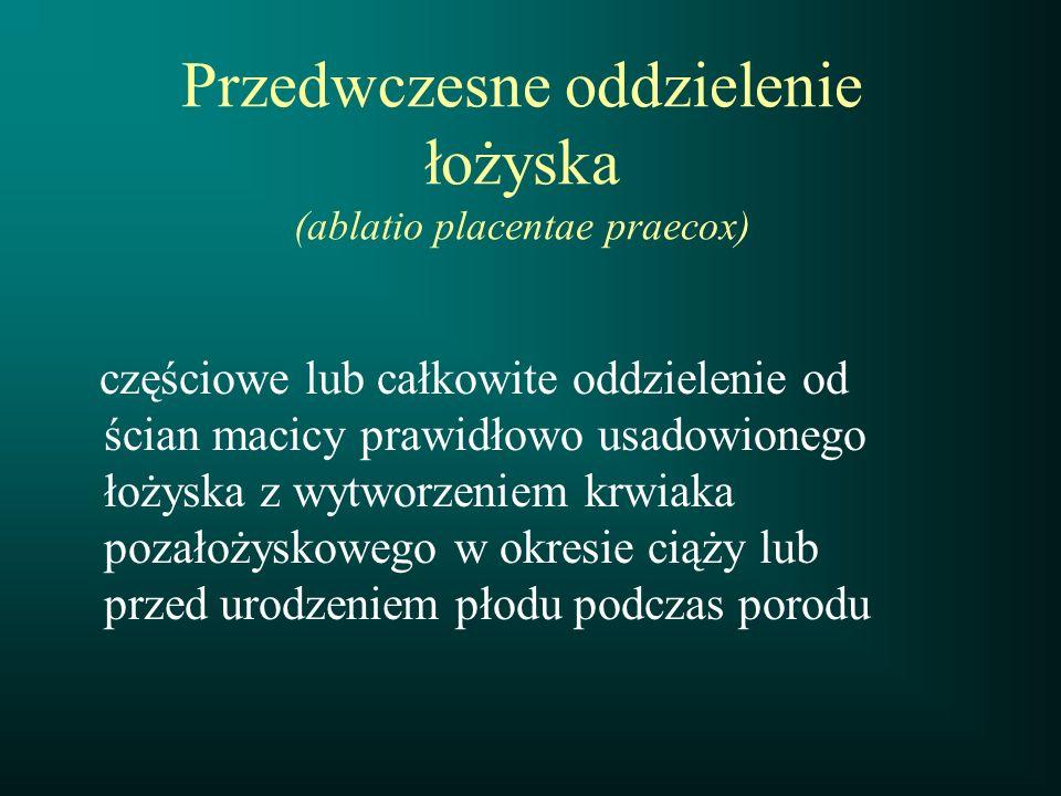 Przedwczesne oddzielenie łożyska (ablatio placentae praecox)