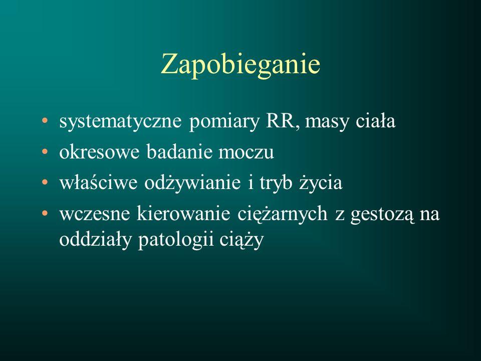 Zapobieganie systematyczne pomiary RR, masy ciała