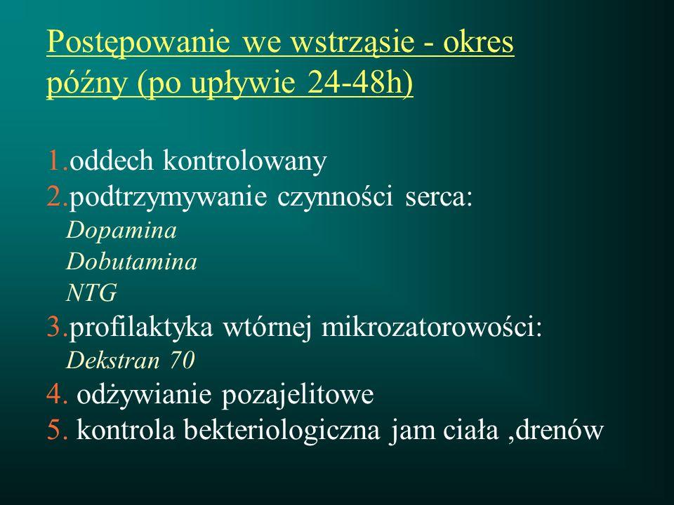 Postępowanie we wstrząsie - okres późny (po upływie 24-48h) 1