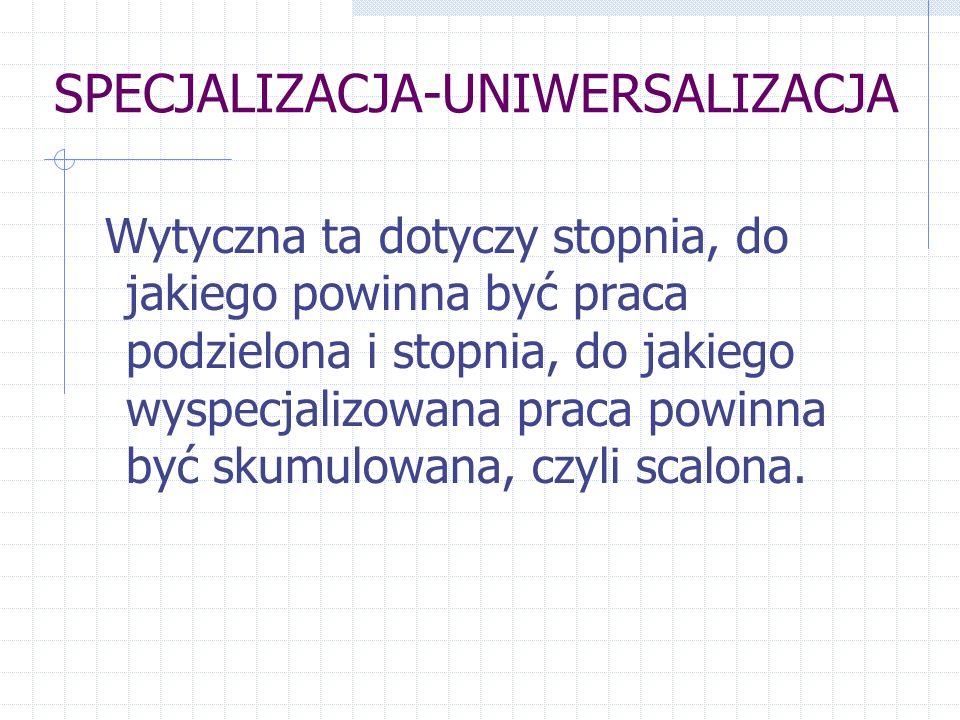 SPECJALIZACJA-UNIWERSALIZACJA