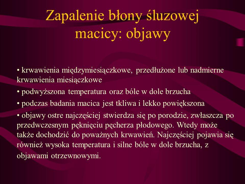 Zapalenie błony śluzowej macicy: objawy