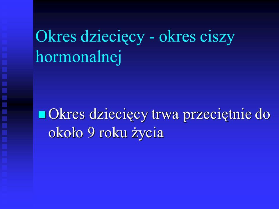 Okres dziecięcy - okres ciszy hormonalnej