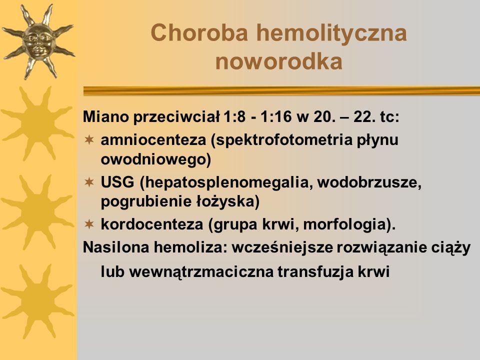 Choroba hemolityczna noworodka