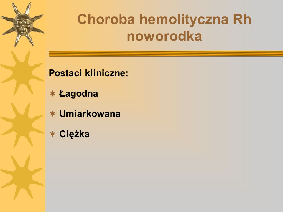 Choroba hemolityczna Rh noworodka