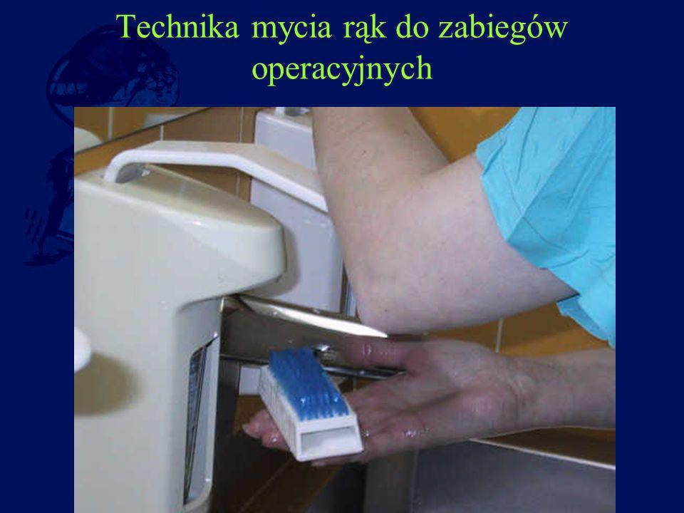 Technika mycia rąk do zabiegów operacyjnych
